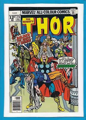 "Mighty Thor #274_August 1978_Vf_""deadly Day Of Ragnarok""_Bronze Age Marvel_Uk!"