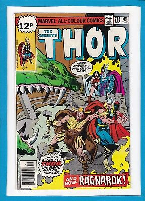"Mighty Thor #278_December 1978_Nm Minus_""and Now...ragnarok""_Bronze Age Uk!"