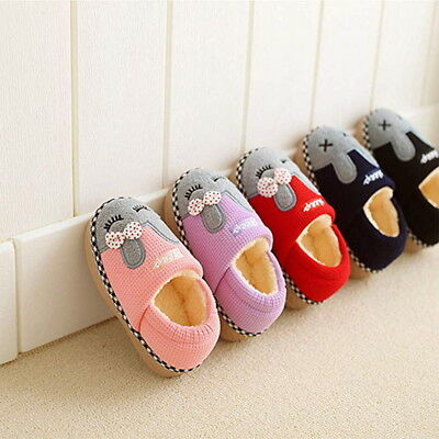 83013912328 Cute Cozy Cat Paw Slippers Children Home Warm Winter Slipper Indoor House  Shoes