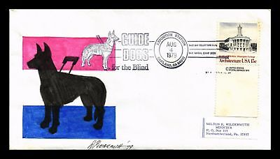 Dr Jim Stamps Us Hand Drawn Guide Dogs Oakland Expo Event Monarch Cover 1979