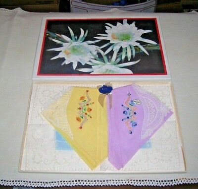 Vintage,christmas Gift,new,hand Loomed,swiss Lace,handkerchiefs,embroidered,nr