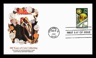 Dr Jim Stamps Us Coin Collecting Numismatics First Day Cover Chicago 1991
