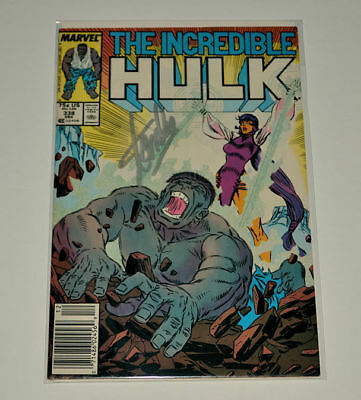THE INCREDIBLE HULK #338  Signed STAN LEE  Autographed GREY HULK ISSUE!