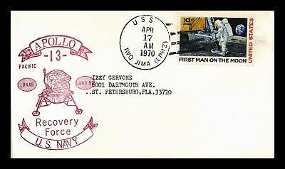 Dr Jim Stamps Us Apollo 13 Navy Recovery Space Event Cover 1970 Uss Iwo Jima
