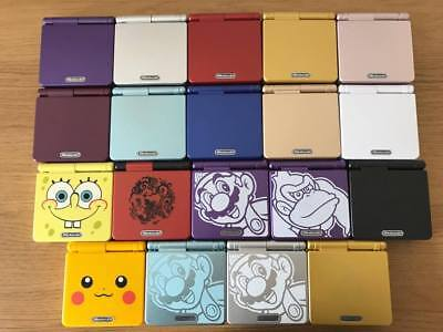 Refurbished Nintendo Gameboy Advance GBA SP 001 * New Shell *Choose YOUR DESIGN