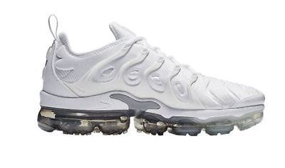 AUTHENTIC NIKE AIR VAPORMAX PLUS White Platinum Wolf Grey 924453 102 Men size