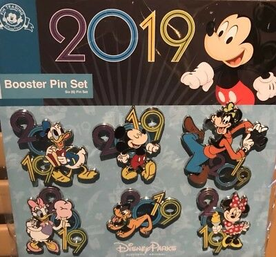 Disney Parks World 2019 Mickey & Friends Booster Pack Trading Pins NEW