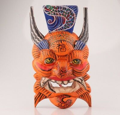 Wood Handmade Carving Mask Wall Decorative Pendant Collection
