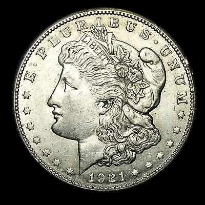 1921 S ~**ABOUT UNCIRCULATED AU**~ Silver Morgan Dollar Rare US Old Coin! #W0