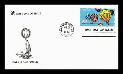 Dr Jim Stamps Us Hot Air Ballooning First Day Cover Washington Dc 1983