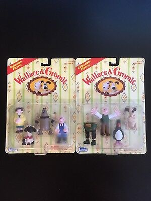 1989 Wallace and Gromit Wrong Trousers Figures and Feathers McGraw SEALED
