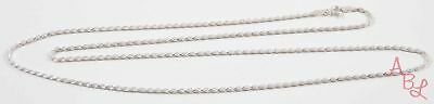 "Sterling Silver Vintage 925 Rope Chain Necklace 24"" (5.7g) - 743722"