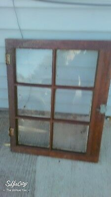Antique wooden door frame and window