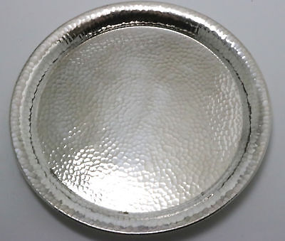 Marshall Field Colonial Sterling Silver Handwrought Hammered Bread Plate 1915