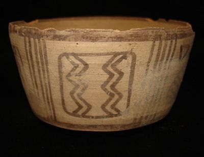 EBAY BEST! ANCIENT PAINTED BOWL  ~3000BC   Early Bronze Age!