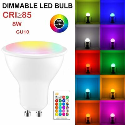 8W RGBW LED Bulb GU10 Color Changing Flash Strobe Lamp Daily Ambient Light