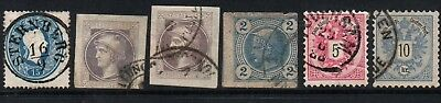 Austria  Lot of 6 early stamps