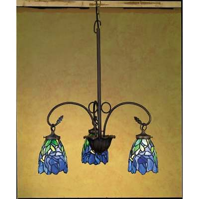 Meyda Tiffany 27412 Stained Glass Tiffany 3-Light Chandelier, Fixtures Series