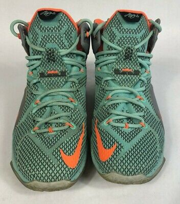 detailed look 8a827 1eb60 Mens Nike LeBron 12 NSRL Basketball Shoes 684593-301 Size 9🔥 Hyper  Turquoise