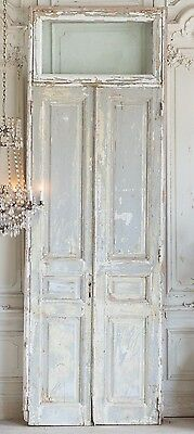 Antique Church Doors Window Top French Country Architectural Salvage,130''h!