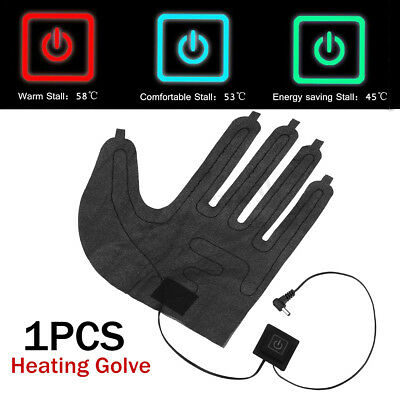 2Pc 7.4V Electric Heated Gloves DIY Motorcycle Winter Outdoor Finger Hand Warmer