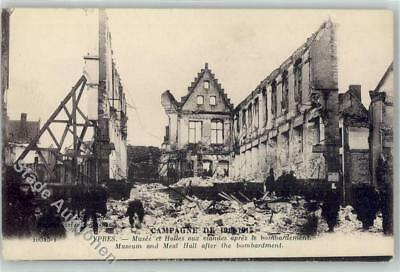 51766348 - Ypres Museum and Meat Hall after the bombardment Ypres / Ypern /