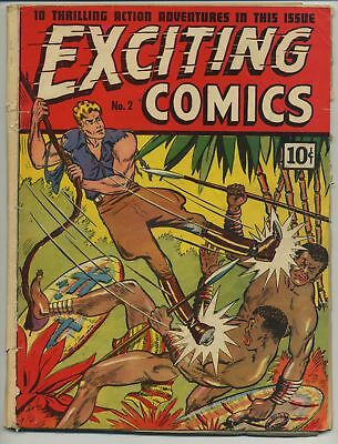 Exciting Comics 2 Early Pre-War Golden Age!