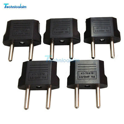 5Pcs US (USA) to EU (Europe) Travel Charger Adapter Plug Outlet Converter