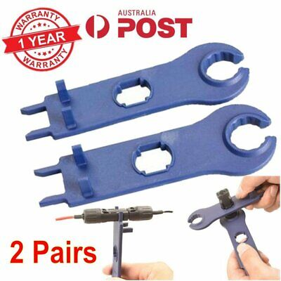 2 Pairs MC4 Tool Solar Wrench Connector Disconnect Spanners For PV Wire Cable AU