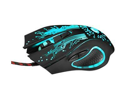 6-Button LED USB Optical Wired Gaming Mouse for Pro Gamer