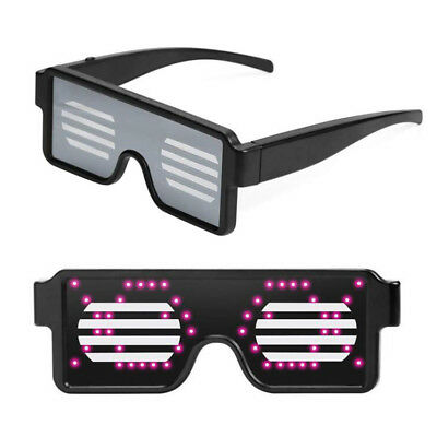 LED Flashing Light Up Star Halloween Glow Party Favors Blinking Glasses Shades