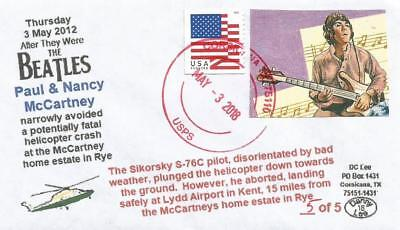3 MAY '12 Paul & Nancy McCartney Escape Fatal Helicopter Crash #5 of 5 Cover