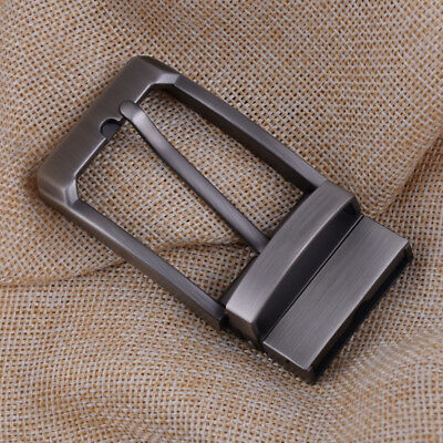 Mens Alloy Antique Belt Buckle Single Reversible Prong Rectangular Pin Buckle