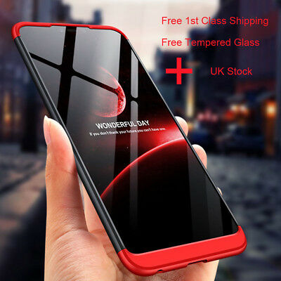 360° Full Body Cover Shockproof Hard Case For Huawei Honor 8X Max+Tempered Glass