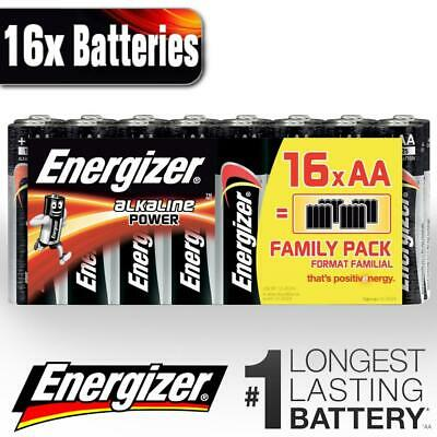 16 x Energizer AA Power Plus Alkaline Batteries LR3 MN1500 Battery Long Expiry