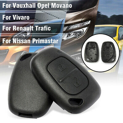 2 Button Remote Key Fob Shell Case Cover For Vauxhall Opel Vivaro Renault Trafic