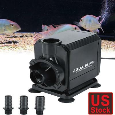 800GPH Submersible Water Pump Aquarium Fountain Pond Fish Tank Water Circulation