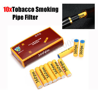 10Pcs New 9mm Activated Carbon Filters For Tobacco Pipe Smoking Pipe