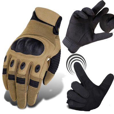 US Tactical Full Finger Glove Touchscreen Cycling Motorcycle Combat Hard Knuckle