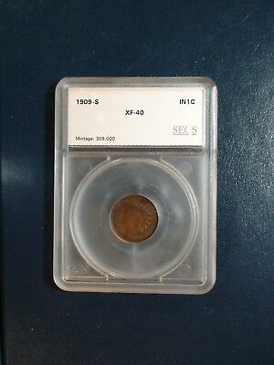 1909 S Indian Head Cent LOW MINTAGE KEY DATE XF 1C Penny Coin Starts At 99 Cents