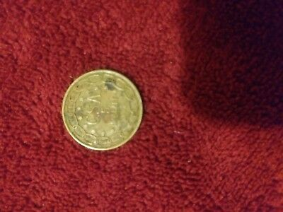 1861 Seated Liberty Csa Confederate States $5 Dollars Gold Coin  Brass