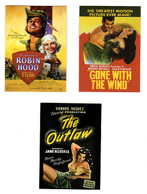 Set of 3 Celebrity Poster Promo card 2007 Breygent Gable Russell Flynn Outlaw