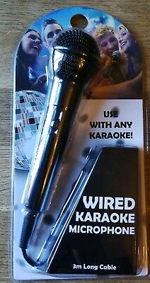 Rock Jam Wired Karaoke Microphone 3m Cable Party Singing