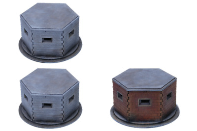 WW2 EUROPE BRITISH PILL BOX SET 28mm N089 Laser cut MDF Building & Terrain