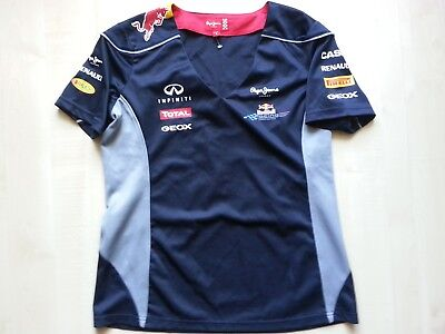 Pepe Jeans LONDON Red Bull Racing FORMULA ONE TEAM V-Neck-Shirt-Bluse-Top L neuw