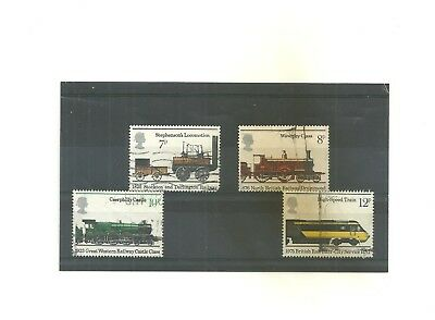 GB 1975 150th Anniversary Public Railways           set of 4 used stamps