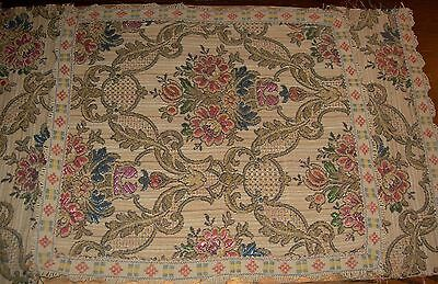 "Mid 19th to early 20th Century Beautiful 16"" x 10"" Vintage Antique Textile"