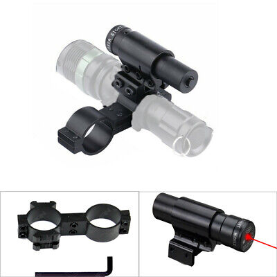 Tactical Flashlight Torch Red Dot Laser Sight w/ 25.4mm Mount For Hunting Mount