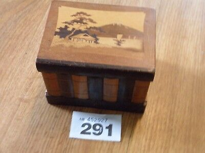 Vintage Inlaid Chinese Wooden Puzzle Box