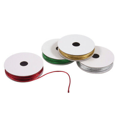Cord Metallic 4 Pack Assorted 1mm x 2m Silver Gold Red Green